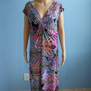 Annalee&Hope Maxi Multi-Color Dress Size XL